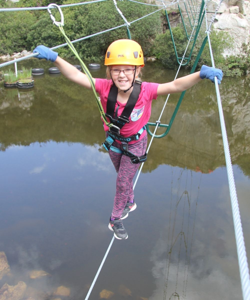 High Ropes Course at Via Ferrata Cornwall
