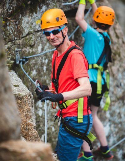 Climbing with Via Ferrata Cornwall