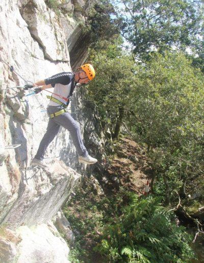 Climbing at Via Ferrata Cornwall