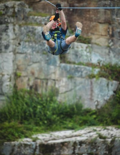 Zip wire adrenaline Cornwall