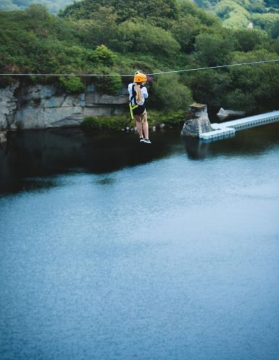 Zip wire near Falmouth