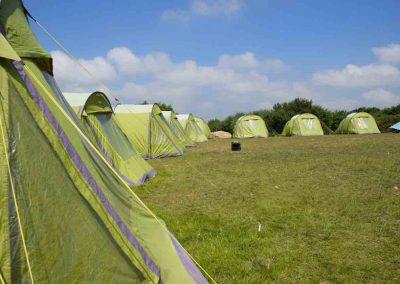 Camping in tents at Via Ferrata Cornwall