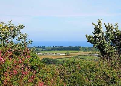 Views over the sea at Via Ferrata Cornwall